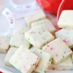 These little Christmas Sprinkle Cookie Bites are perfectly cute, festive and delicious!