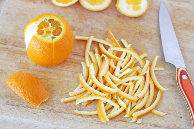 How to make candied orange peel, perfect for adding to muffins, cookies and cakes!