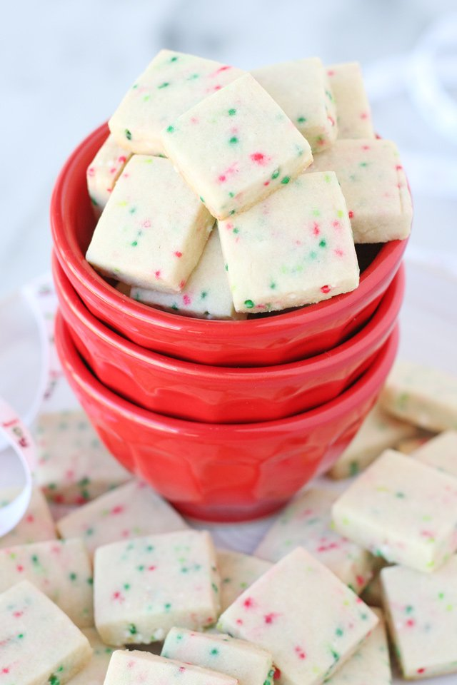Christmas Sprinkle Cookie Bites - Perfectly cute and festive little cookie bites!