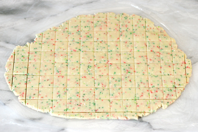 How to make cute and festive Christmas Sprinkle Cookie Bites