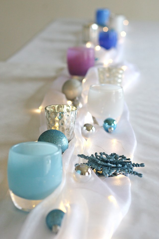 Beautiful decorating ideas for a Frozen or winter themed party!