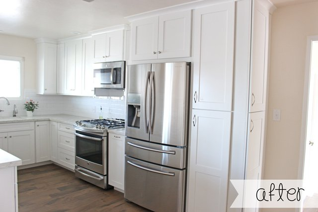 GORGEOUS White Kitchen Remodel!  Complete before and after photos, costs, remodeling tips and more!