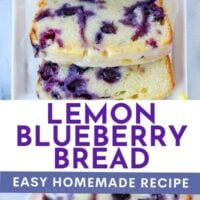 lemon blueberry bread HOMEMADE RECIPE 2 IMAGE COLLAGE