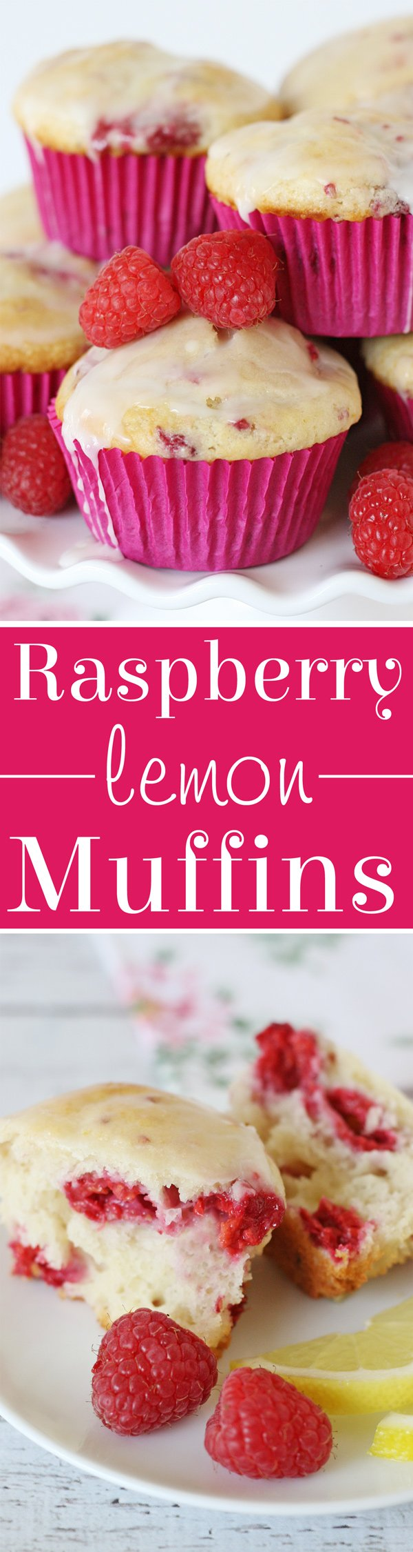 Sweet, tart and simply delicious Raspberry Lemon Muffin Recipe!