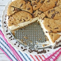 This Chocolate Chip Cookie Ice Cream Cake is just like a giant ice cream sandwich!
