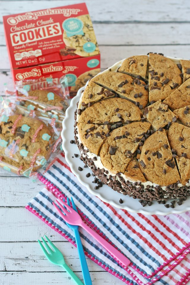 Simple, delicious, NO BAKE Chocolate Chip Cookie Ice Cream Cake