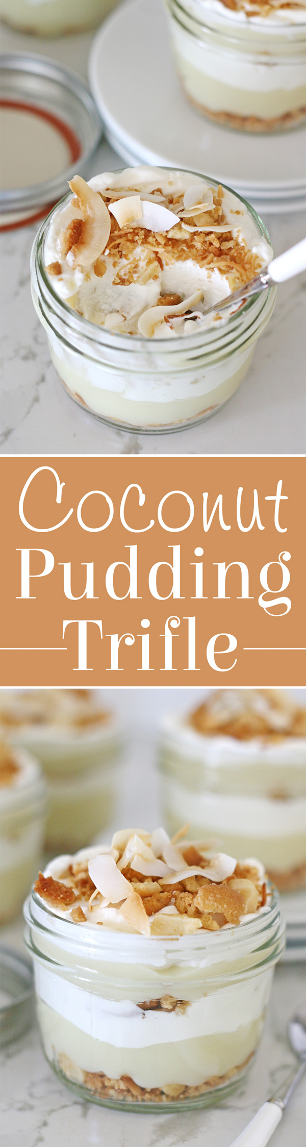 Homemade coconut pudding, whipped cream and a macadamia nut crumble... YUM!