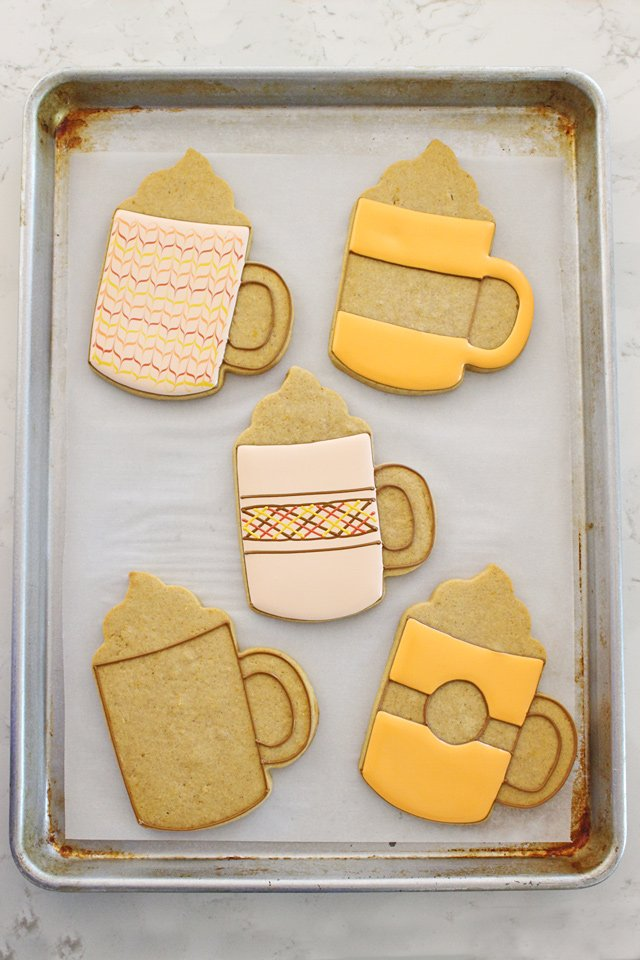 Pumpkin Spice Fall Decorated Mug Cookies