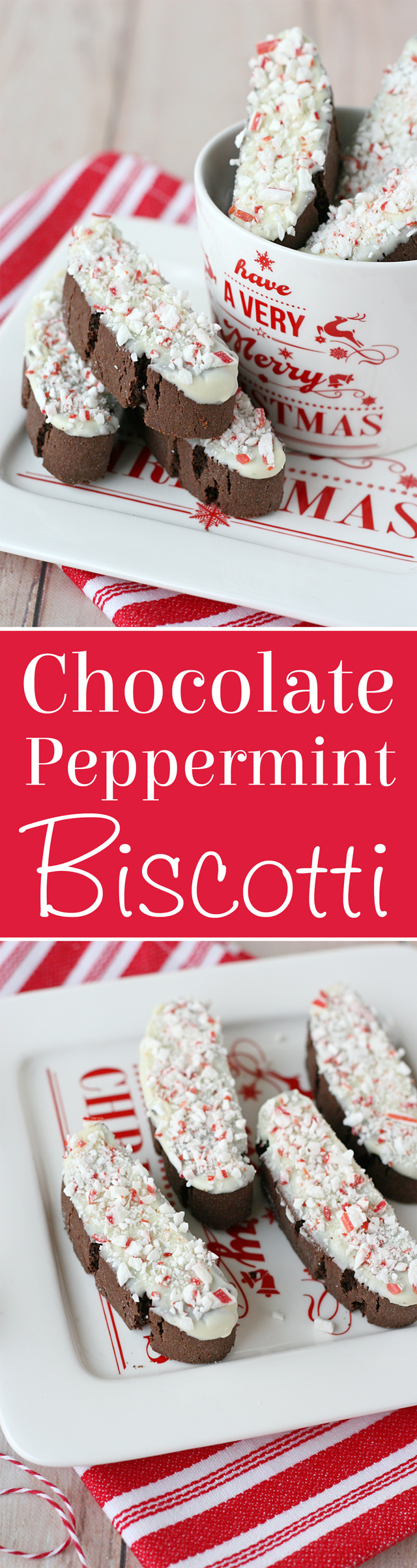 Delicious recipe for CHOCOLATE PEPPERMINT BISCOTTI