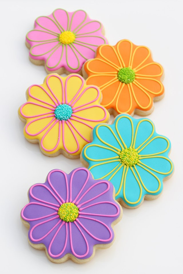 Bright Flower Decorated Cookies