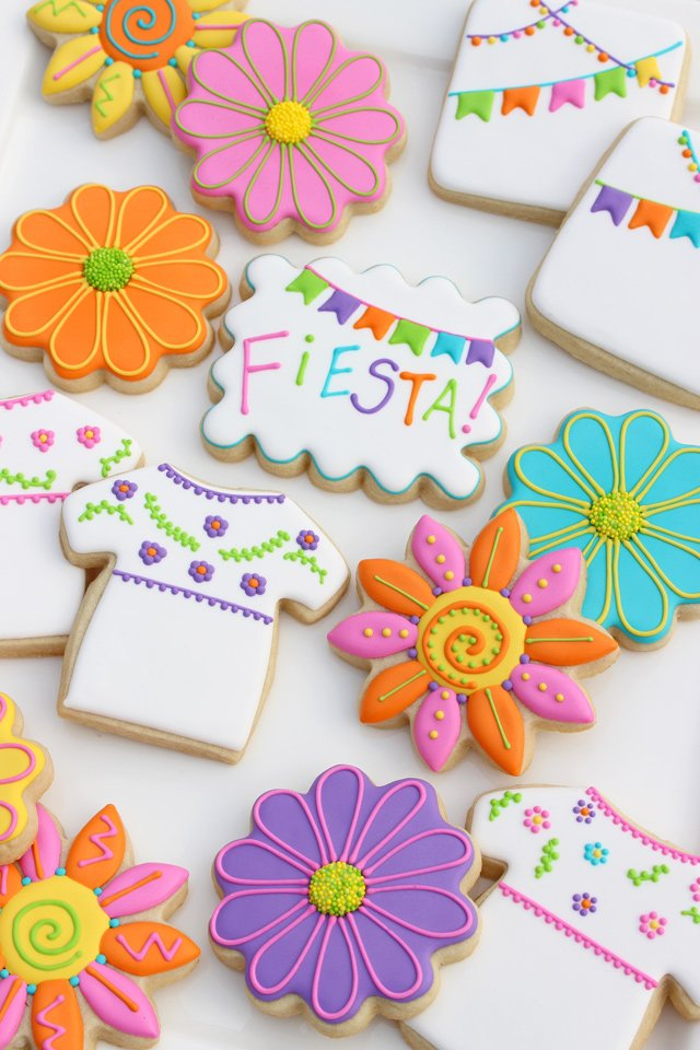 Mexican Fiesta Decorated Cookies
