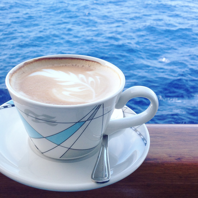 Enjoy coffee with a view on a Princess Cruise