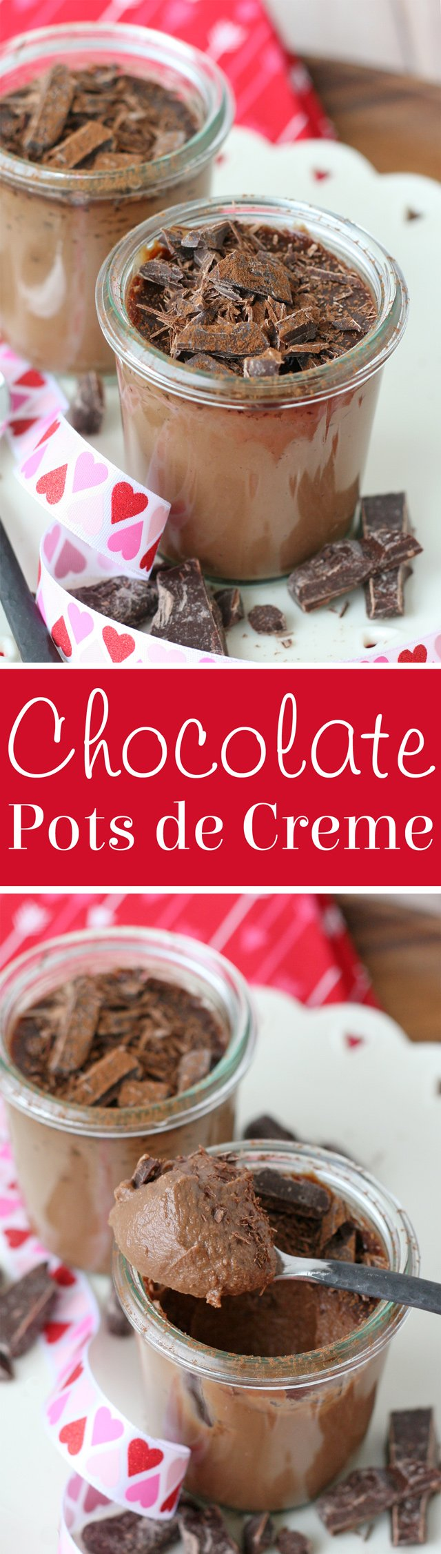 Rich and delicious! This Chocolate Pots de Creme is the perfect chocolate dessert!
