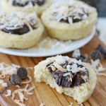 The perfect recipe for coconut lovers! Coconut Fudge Cookie Cups