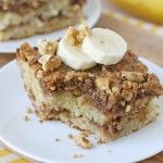 Banana, walnuts, cinnamon... this Banana Coffee Cake is flavorful and delicious!
