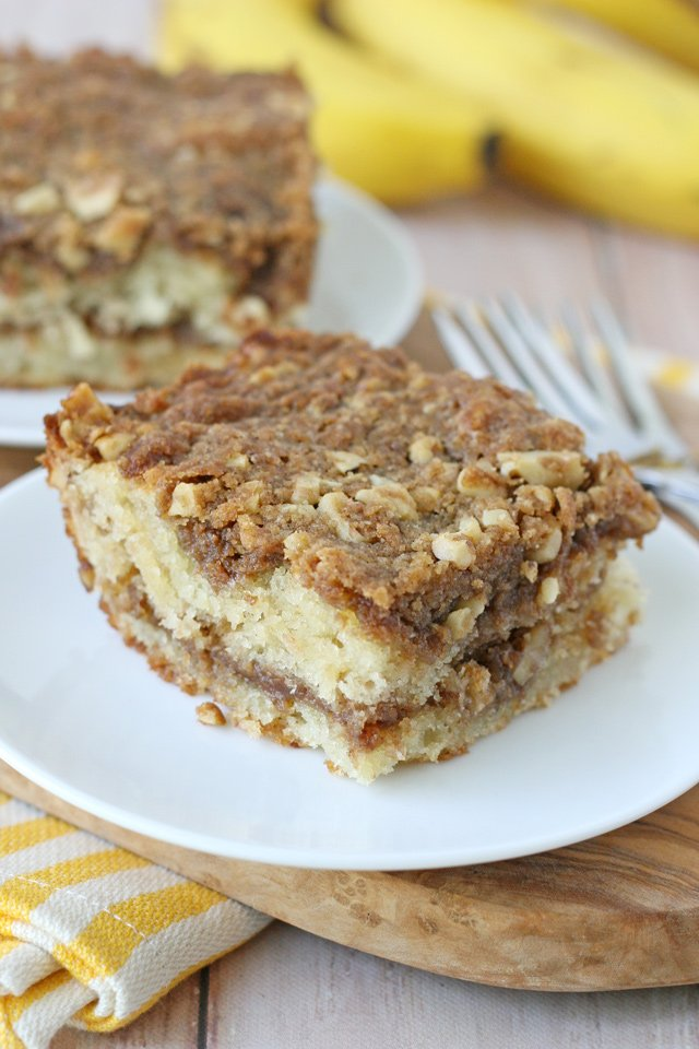 Moist and delicious Banana Coffee Cake Recipe