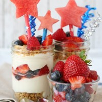 Easy & delicious 4th of July NO-BAKE Berry Cheesecake Trifle