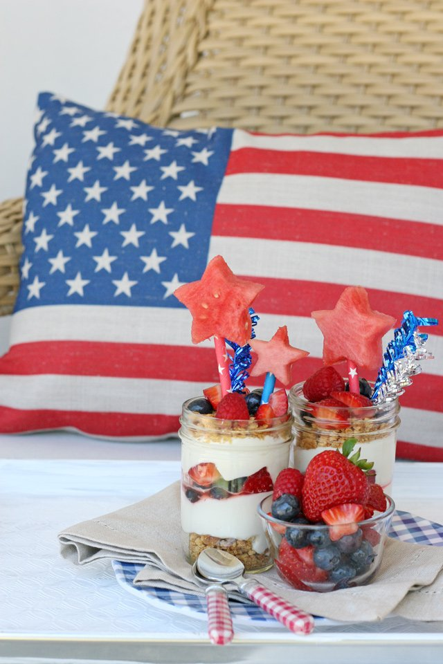 4th of July Berry Cheesecake Trifle – Glorious Treats