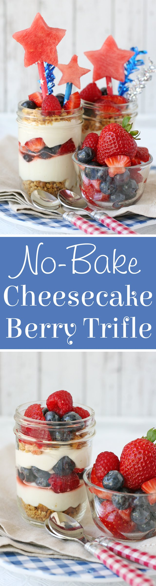 No-Bake Berry Cheesecake Trifle Recipe