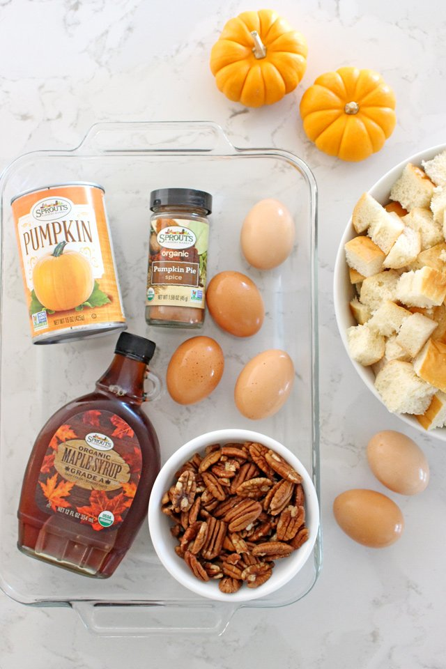 Perfect for holiday guests! Baked Pumpkin French Toast Casserole Recipe