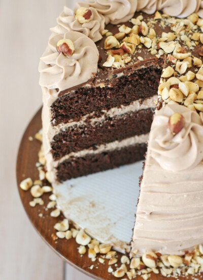 Chocolate Hazelnut Cake - If you love NUTELLA... this cake is for you!