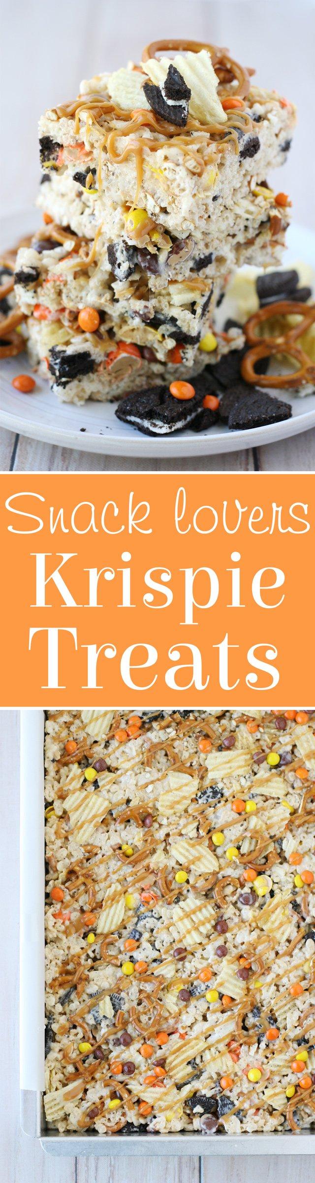 Snack Lovers Krispie Treats... sweet, salty and simply AMAZING!