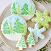 Winter Wonderland Decorated Cookies - With Video Tutorial!