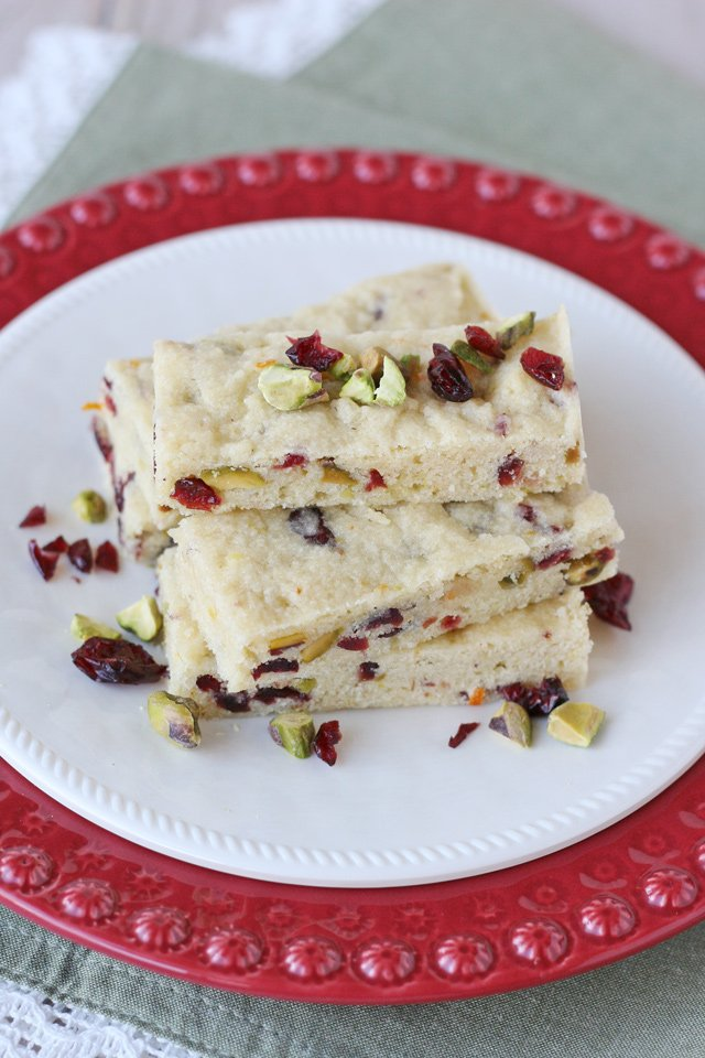 Cranberry Pistachio Cookie Bars Recipe