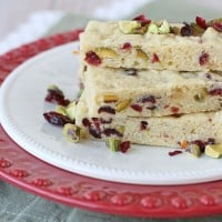 Cranberry Pistachio Sugar Cookie Bars