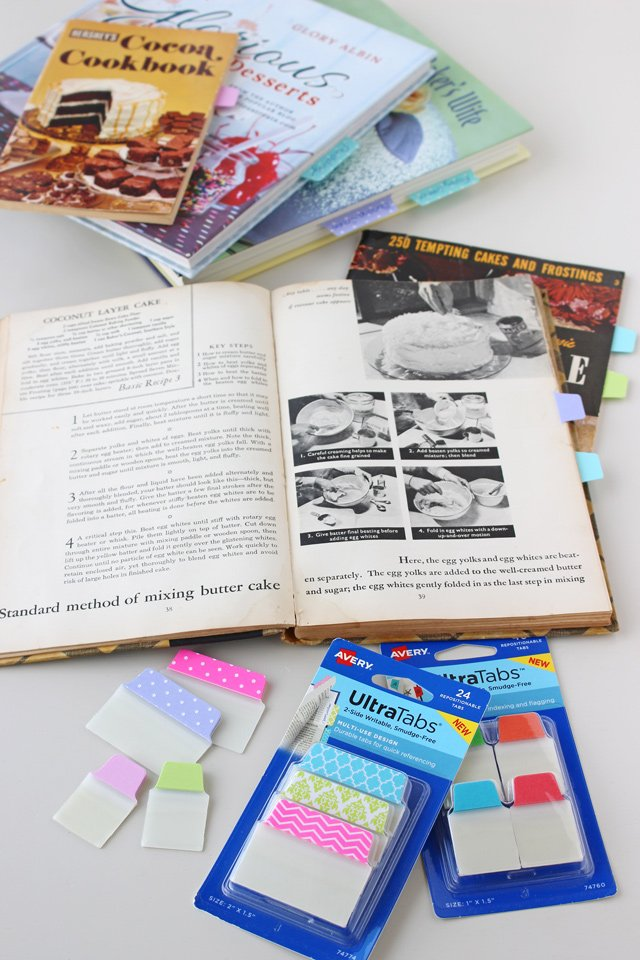 How to organize vintage cookbooks and recipes