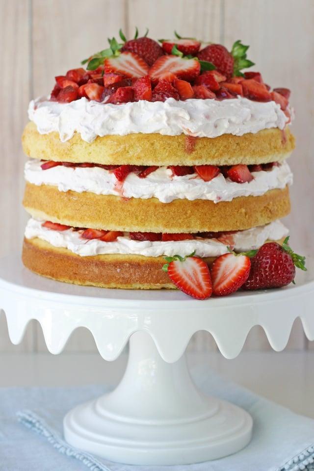 Prime The Best Strawberry Shortcake Cake Glorious Treats Personalised Birthday Cards Veneteletsinfo