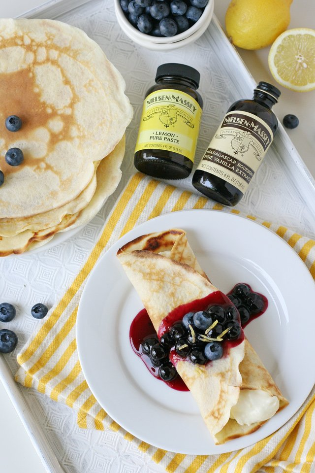 Lemon Blueberry Crepes Recipe - Homemade and delicious!