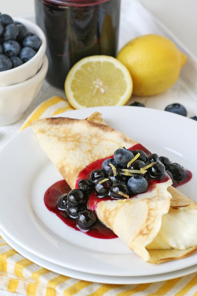 Lemon Blueberry Crepes Recipe - Delicious homemade crepes!