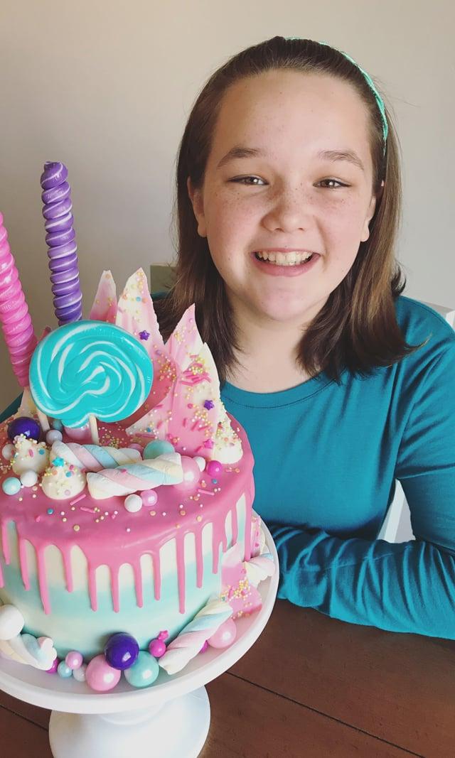 Candy Explosion Birthday Cake