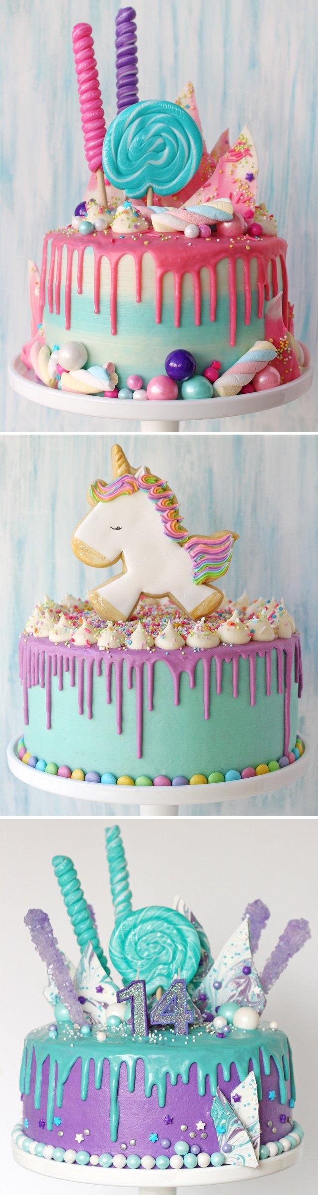 Stupendous Drip Birthday Cakes Glorious Treats Funny Birthday Cards Online Overcheapnameinfo