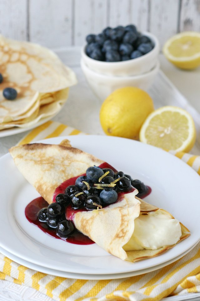 Lemon Blueberry Crepes Recipe