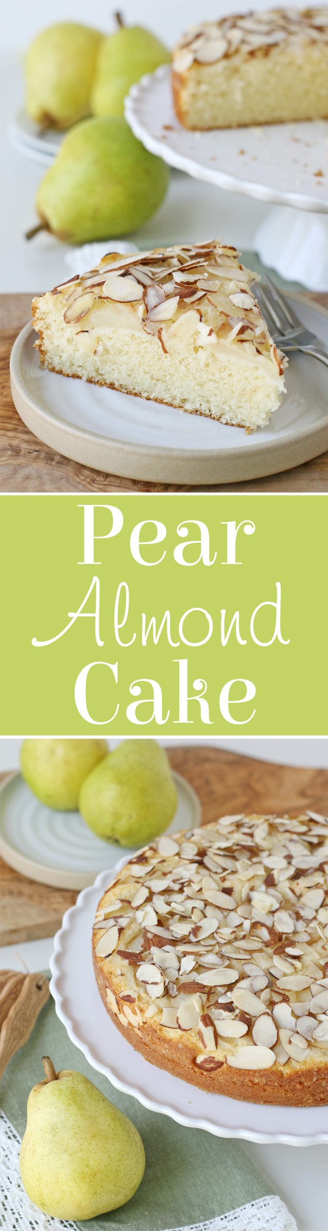Chocolate Chip Pear Almond Cake