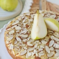 Easy, one-layer Pear Almond Cake recipe