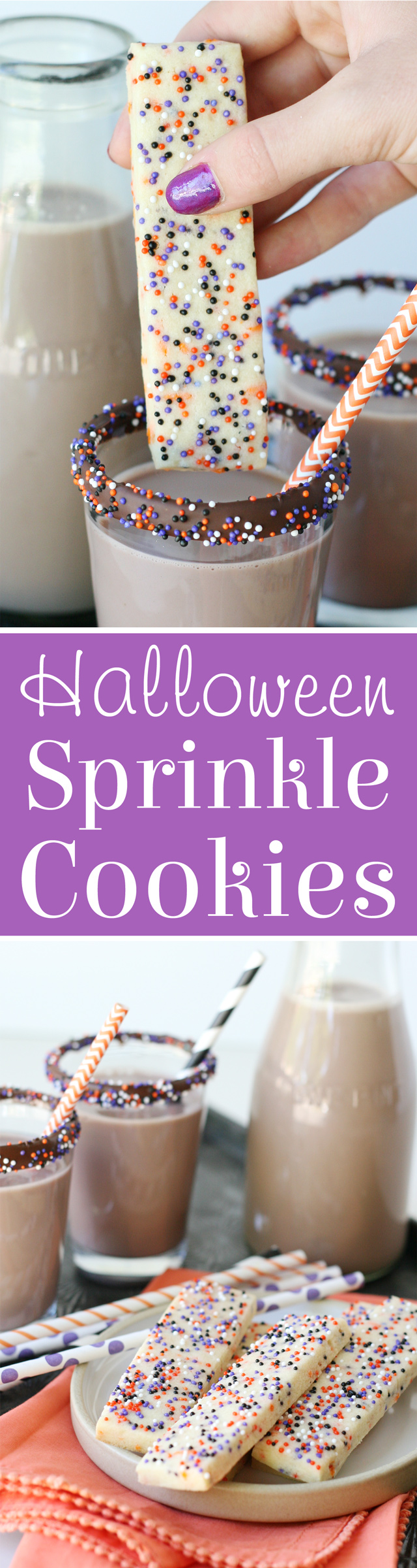 EASY Halloween Sprinkle Cookie Sticks!