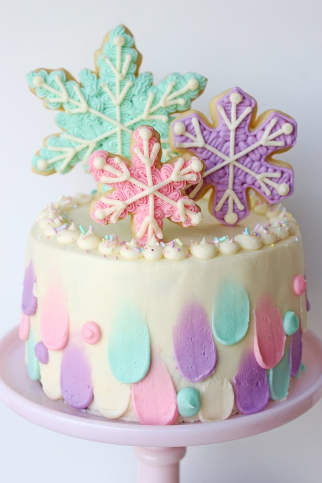 Pastel Snowflake Cake Glorious Treats