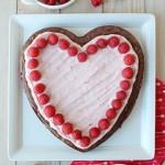 Raspberry Fudge Brownie Heart