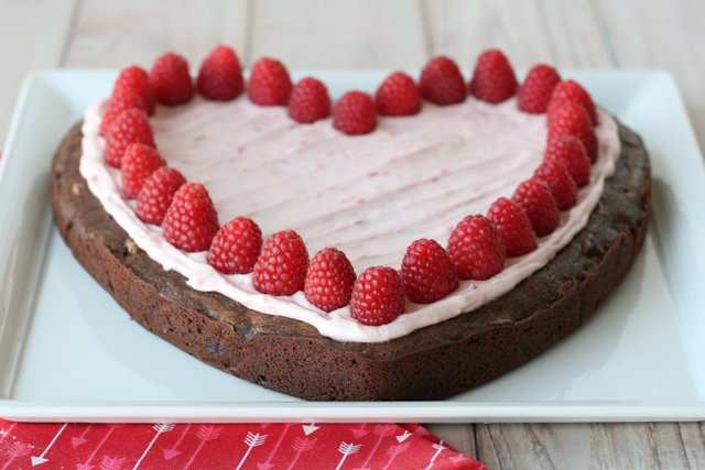 Raspberry Brownie Heart