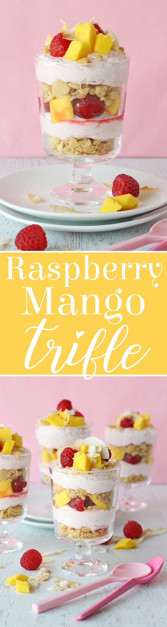 Raspberry Mango Trifle