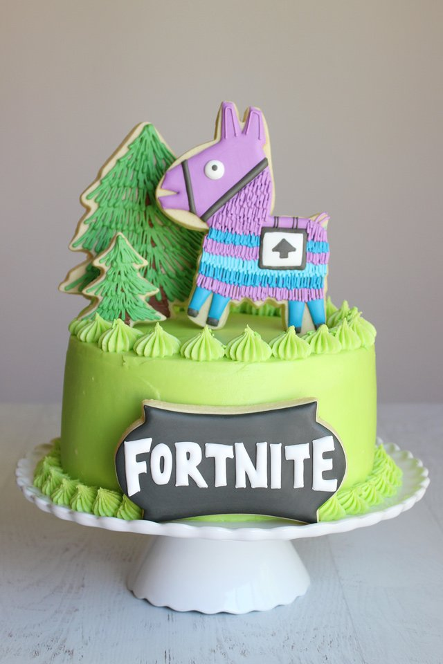 Cool Fortnite Birthday Cake Cookies Glorious Treats Funny Birthday Cards Online Alyptdamsfinfo