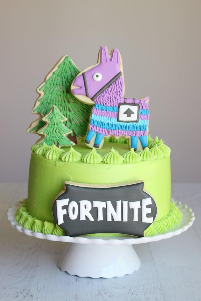 Fortnite Birthday Cake Amp Cookies Glorious Treats
