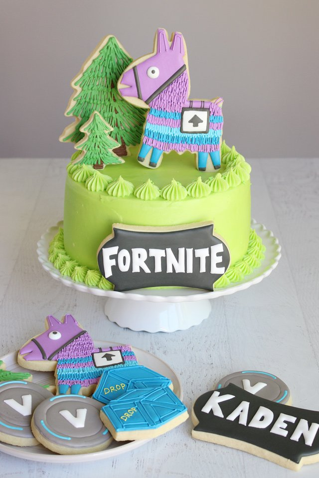 Fortnite Birthday Cake Cookies
