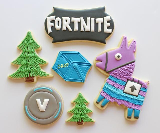 Fortnite Birthday Cookies