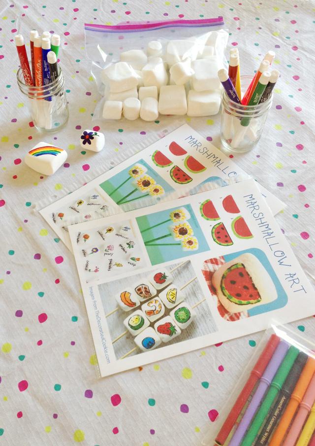 Marshmallow Art for Kids