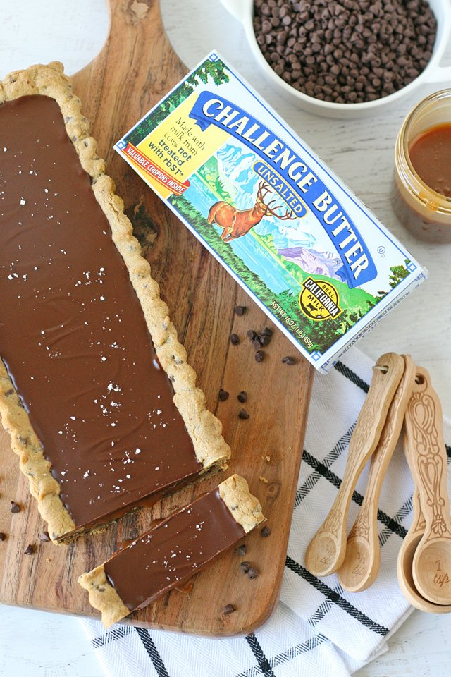 Chocolate Chip Salted Caramel Tart