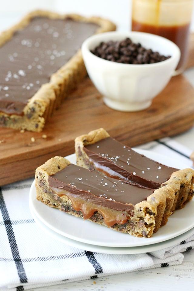 Chocolate Chip Caramel Tart